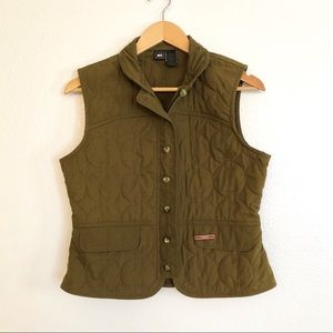 REI Army Green Button Up Vest Size S